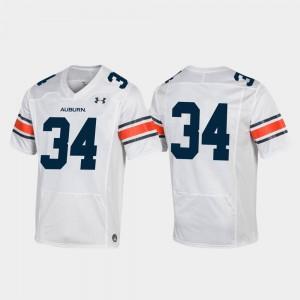 #34 Auburn Jersey Mens White Football Replica