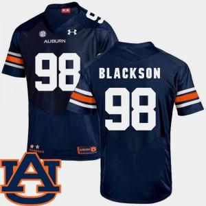 College Football SEC Patch Replica #98 Navy Angelo Blackson Auburn Jersey Mens