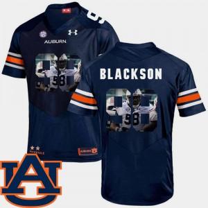 Men's Angelo Blackson Auburn Jersey Navy Football #98 Pictorial Fashion