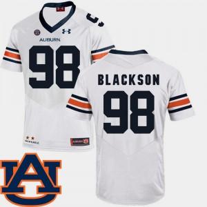 College Football Angelo Blackson Auburn Jersey SEC Patch Replica #98 For Men's White