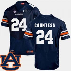 Mens College Football Blake Countess Auburn Jersey #24 SEC Patch Replica Navy