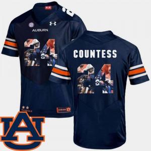 Pictorial Fashion Football #24 For Men Navy Blake Countess Auburn Jersey