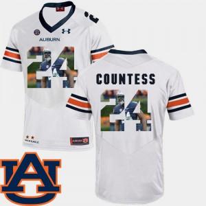 Football #24 Pictorial Fashion For Men White Blake Countess Auburn Jersey