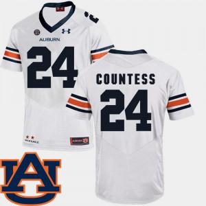 Blake Countess Auburn Jersey #24 White SEC Patch Replica For Men's College Football