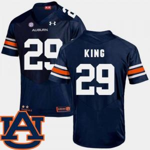 Brandon King Auburn Jersey #29 Navy College Football SEC Patch Replica For Men