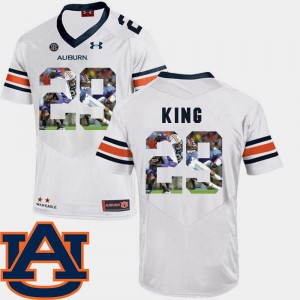 White Pictorial Fashion For Men's Brandon King Auburn Jersey #29 Football