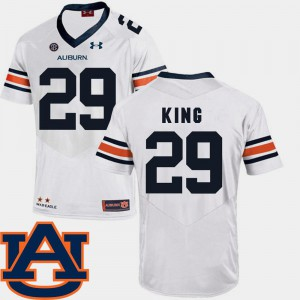 Brandon King Auburn Jersey White For Men SEC Patch Replica #29 College Football