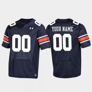 #00 Mens Auburn Customized Jerseys Replica Navy Football