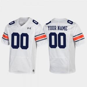 Football White #00 For Men's Replica Auburn Custom Jersey