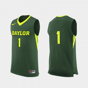College Basketball Green Replica #1 For Men's Baylor Jersey