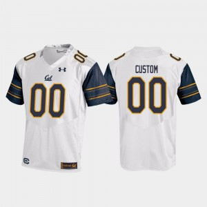 Cal Bears Customized Jerseys White For Men Replica College Football #00