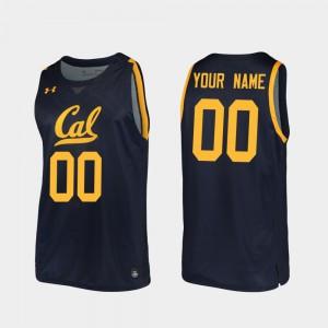 2019-20 College Basketball Men's Navy Cal Bears Custom Jersey Replica #00