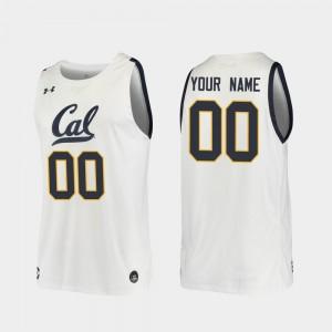 2019-20 College Basketball For Men's Replica #00 White Cal Bears Custom Jersey