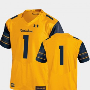 Gold Mens Performance Premier College Football #1 Cal Bears Jersey