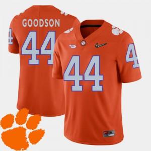 #44 For Men Orange College Football 2018 ACC B.J. Goodson Clemson Jersey