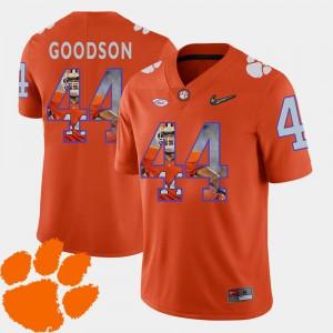 Orange #44 Football For Men B.J. Goodson Clemson Jersey Pictorial Fashion