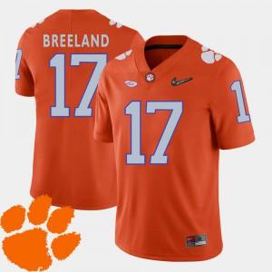 College Football Orange 2018 ACC Men #17 Bashaud Breeland Clemson Jersey