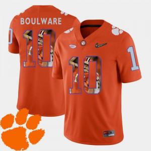 #10 Orange Men Pictorial Fashion Football Ben Boulware Clemson Jersey