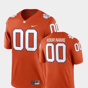 Orange Clemson Custom Jersey #00 College Football 2018 Game Mens