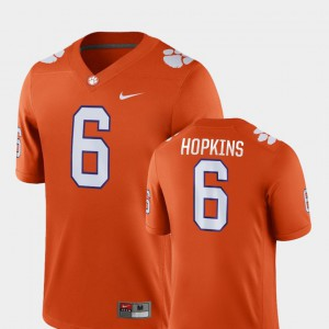 Game College Football DeAndre Hopkins Clemson Jersey #6 Orange Men
