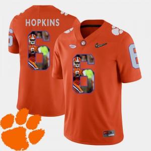 Orange For Men's Pictorial Fashion #6 Football DeAndre Hopkins Clemson Jersey