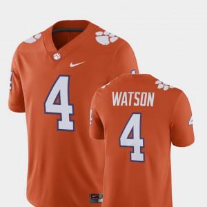 Men's Player #4 Orange Deshaun Watson Clemson Jersey Alumni Football Game