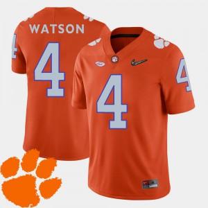 Orange 2018 ACC DeShaun Watson Clemson Jersey For Men #4 College Football