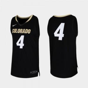 #4 College Basketball Replica Black Colorado Jersey For Men's