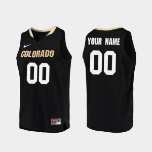 Black Colorado Custom Jersey Replica #00 Men College Basketball