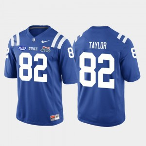 Chris Taylor Duke Jersey College Football Game 2018 Independence Bowl Royal #82 For Men's