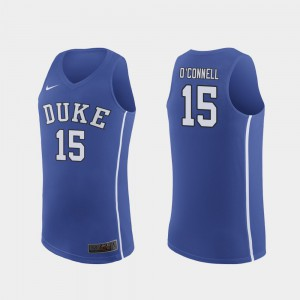 March Madness College Basketball Royal #15 Alex O'Connell Duke Jersey Mens Authentic