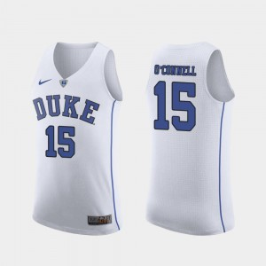 For Men Authentic White March Madness College Basketball Alex O'Connell Duke Jersey #15
