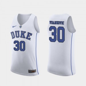 March Madness College Basketball Authentic White Antonio Vrankovic Duke Jersey For Men's #30