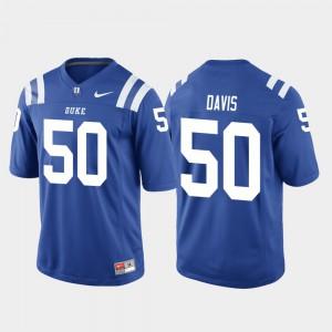 Royal Austin Davis Duke Jersey Mens #50 College Football Game