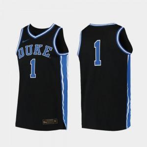 #00 College Basketball Black Men Replica Duke Jersey