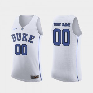 March Madness College Basketball #00 Authentic For Men's Duke Custom Jersey White