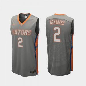 College Basketball Gray Andrew Nembhard Gators Jersey Men #2 Replica