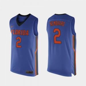 College Basketball For Men's #2 Royal Blue Andrew Nembhard Gators Jersey Replica