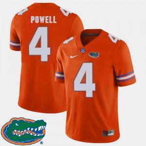 Brandon Powell Gators Jersey 2018 SEC College Football Men Orange #4