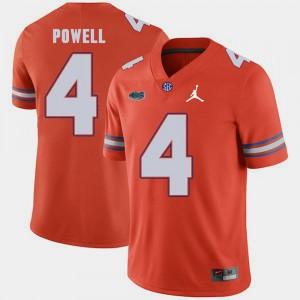 Orange Replica 2018 Game #4 Jordan Brand For Men's Brandon Powell Gators Jersey