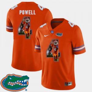 For Men Football Brandon Powell Gators Jersey Orange Pictorial Fashion #4
