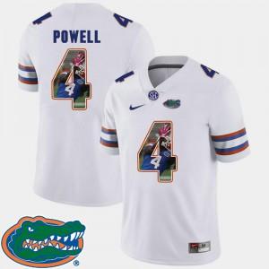 Pictorial Fashion #4 Football Brandon Powell Gators Jersey White Men's