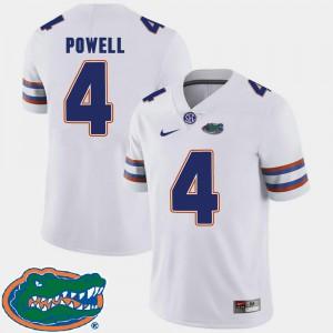 Brandon Powell Gators Jersey 2018 SEC White College Football Men #4