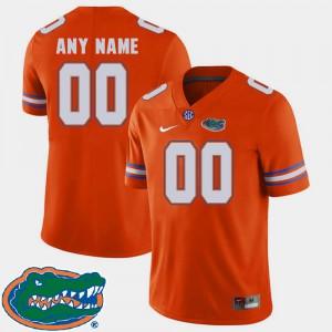 2018 SEC College Football Orange Men #00 Gators Custom Jersey