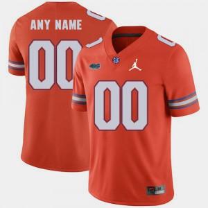 Gators Customized Jerseys For Men's Orange Replica 2018 Game Jordan Brand #00
