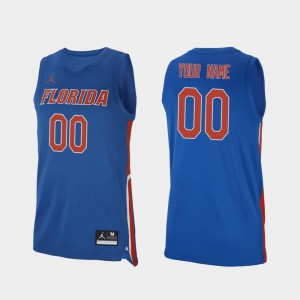 Replica #00 Gators Custom Jersey Men's Royal 2019-20 College Basketball