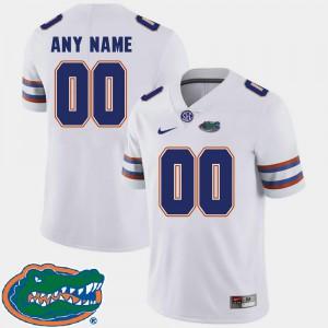 White Gators Custom Jersey College Football For Men #00 2018 SEC