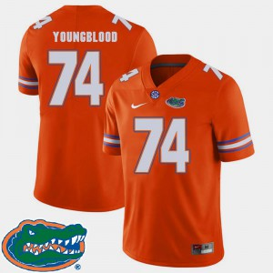 #74 Jack Youngblood Gators Jersey 2018 SEC Mens Orange College Football