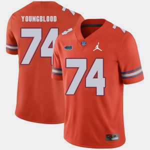 Orange Replica 2018 Game Jack Youngblood Gators Jersey Jordan Brand For Men #74