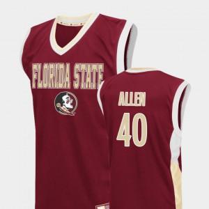 For Men Red #40 Brandon Allen FSU Jersey College Basketball Fadeaway
